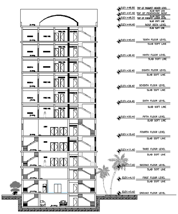 Design of High-Rise Building on Soft Clayed Soil