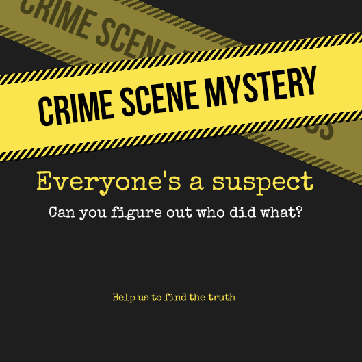 Law Club Announcement: crime scene Mystery on Monday at 11:00 AM