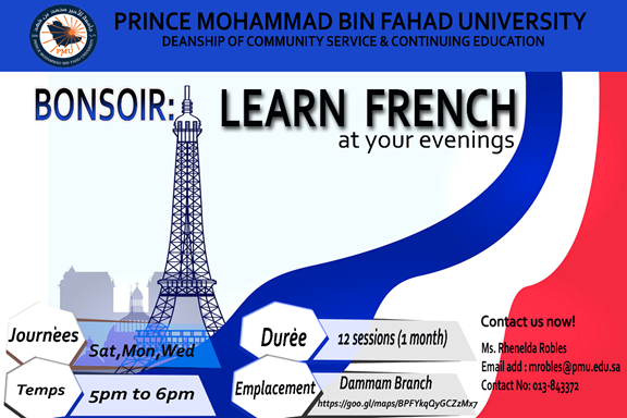Learn French at your evenings