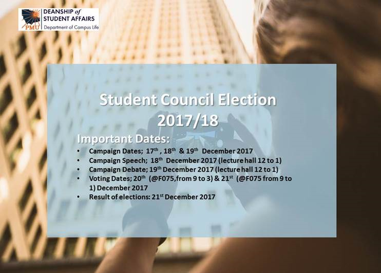 Student Council Election2017/18 - Female campus